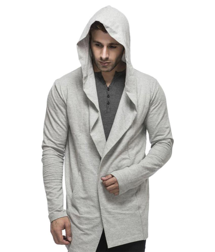 Tinted Men's Cotton Blend Hooded Cardigan - Buy Tinted Men's ...