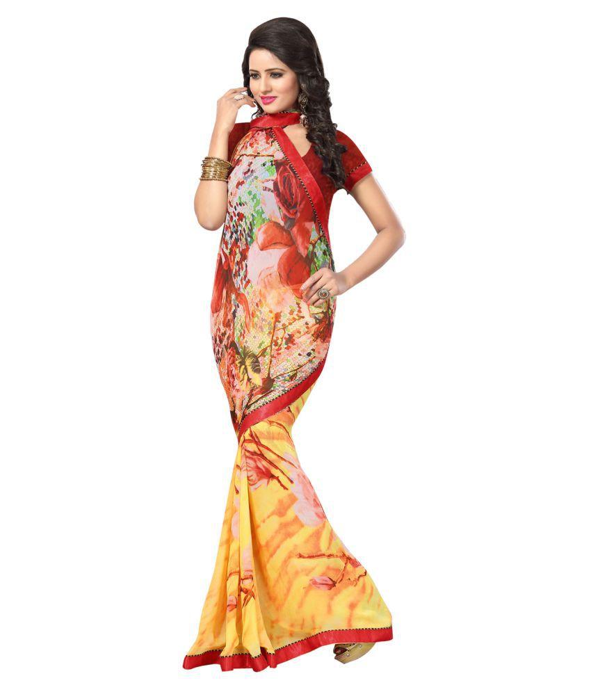 Dhanlaxmi Creation Multicoloured Georgette Saree