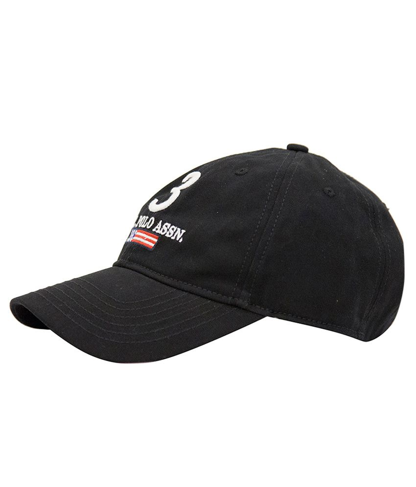 b6741877786 U S Polo Black Baseball Cap For Men - Buy Online   Rs.