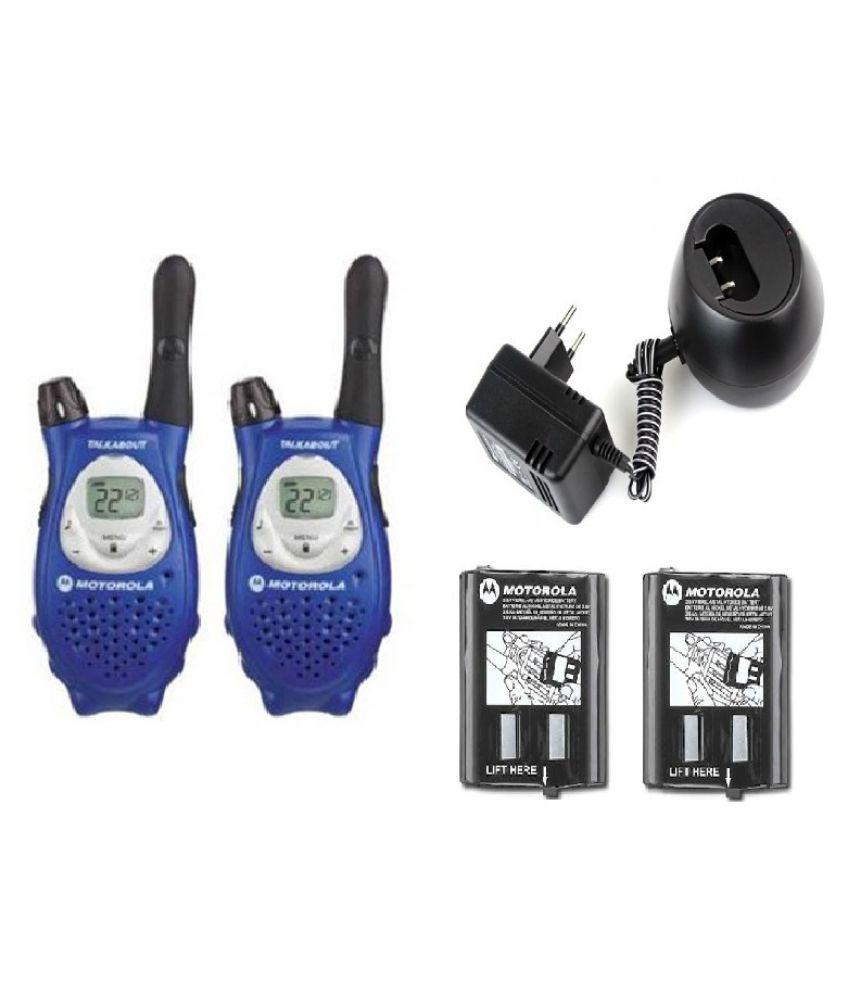 Motorola Blue Walkie Talkie - Set of 4 Price in India | Buy