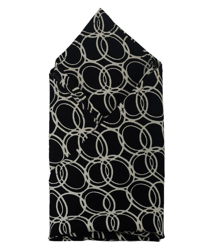 Kiss Black Silk Pocket Square