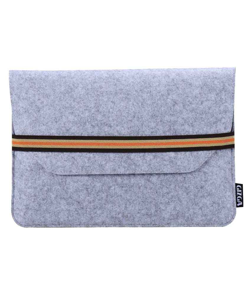 GIZGA 15.6 inch Protective Felt Laptop Sleeve (Light Grey)