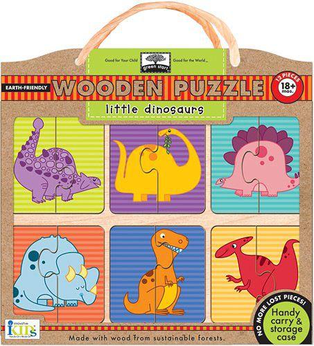 Innovative Kids Green Start Wooden Puzzles: Little ...