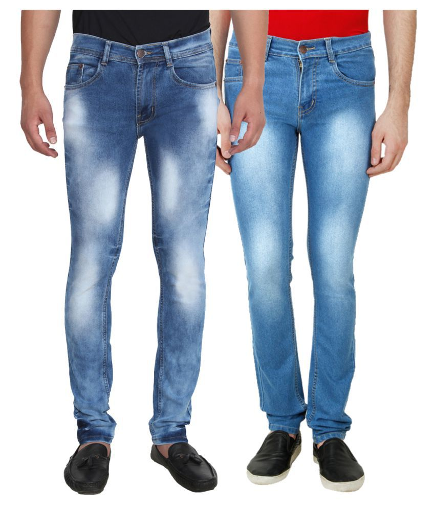Ansh Fashion Wear Blue Slim Faded