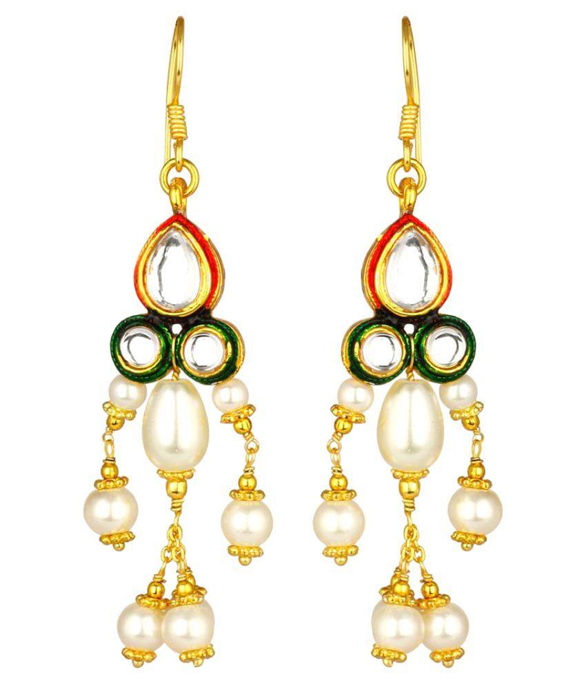 Trend Arrest Multicolour Hanging Earrings