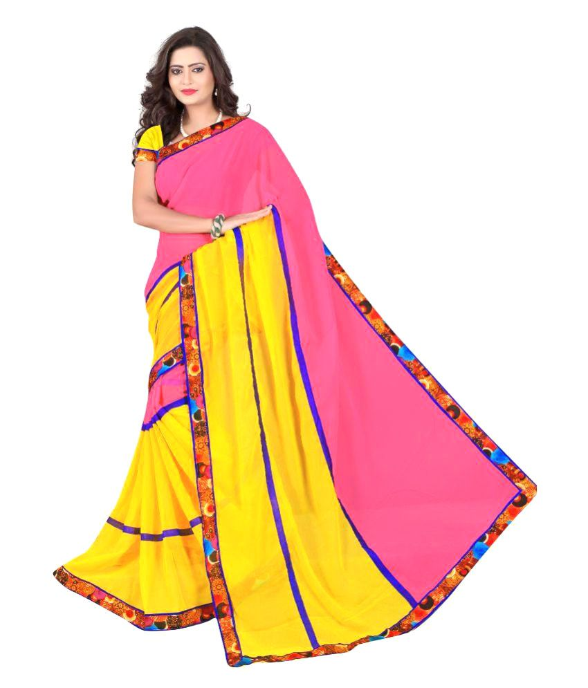 HSFS Multicoloured Georgette Saree