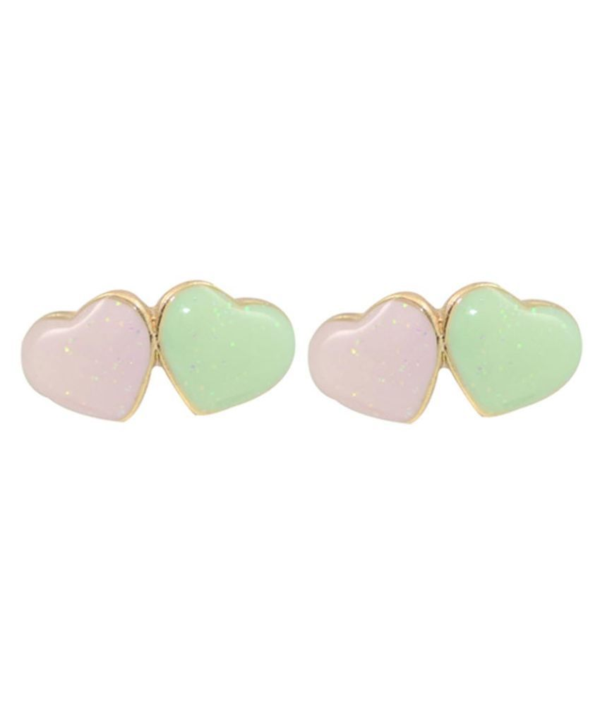 Glitters Online Multicolour Studs Earrings