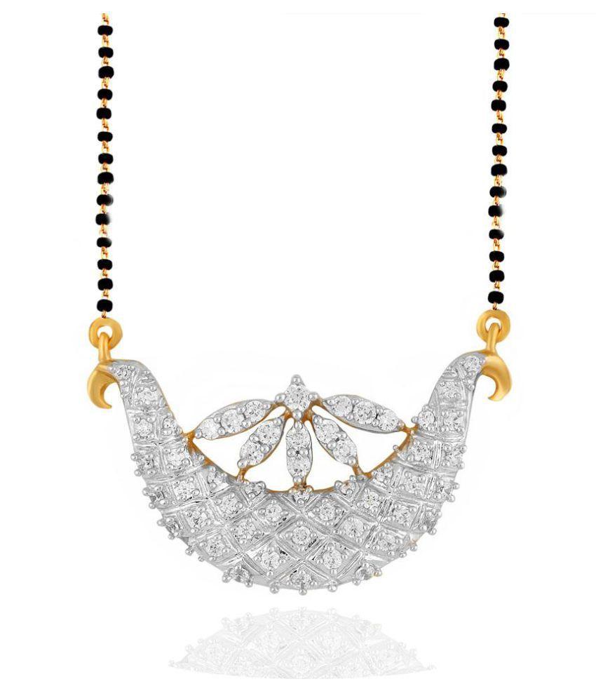 Sangini 18k Yellow Gold Diamond Mangalsutra