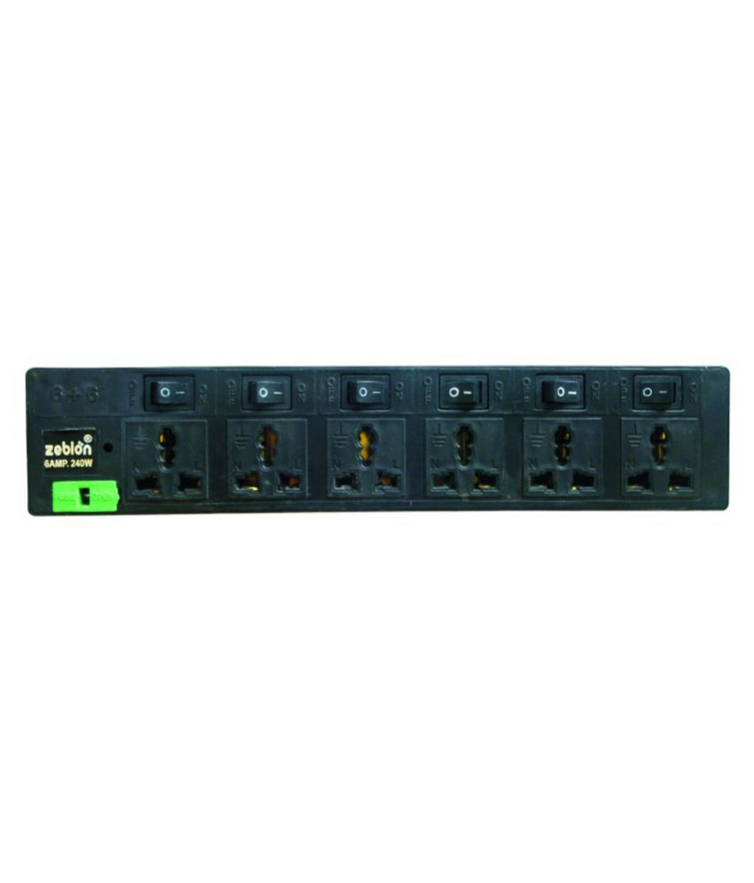 Zebion Pure Power TRI- 6S 6 Socket Spike Surge Protector