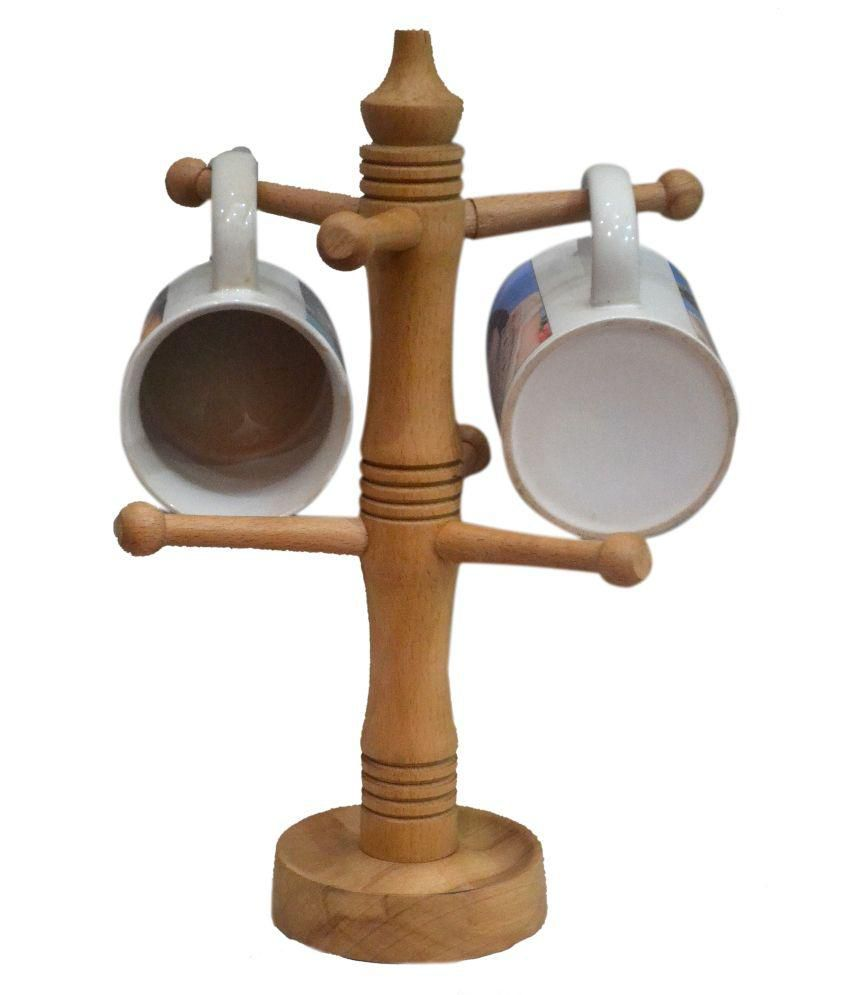 Alishba Wooden Coffee Mug Tree Tea Cup Holder Stand Mug