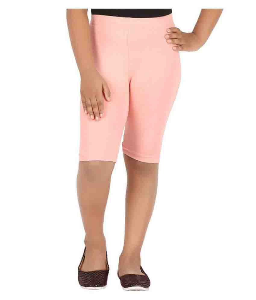 Knit ABC Peach Cotton Cycling Shorts