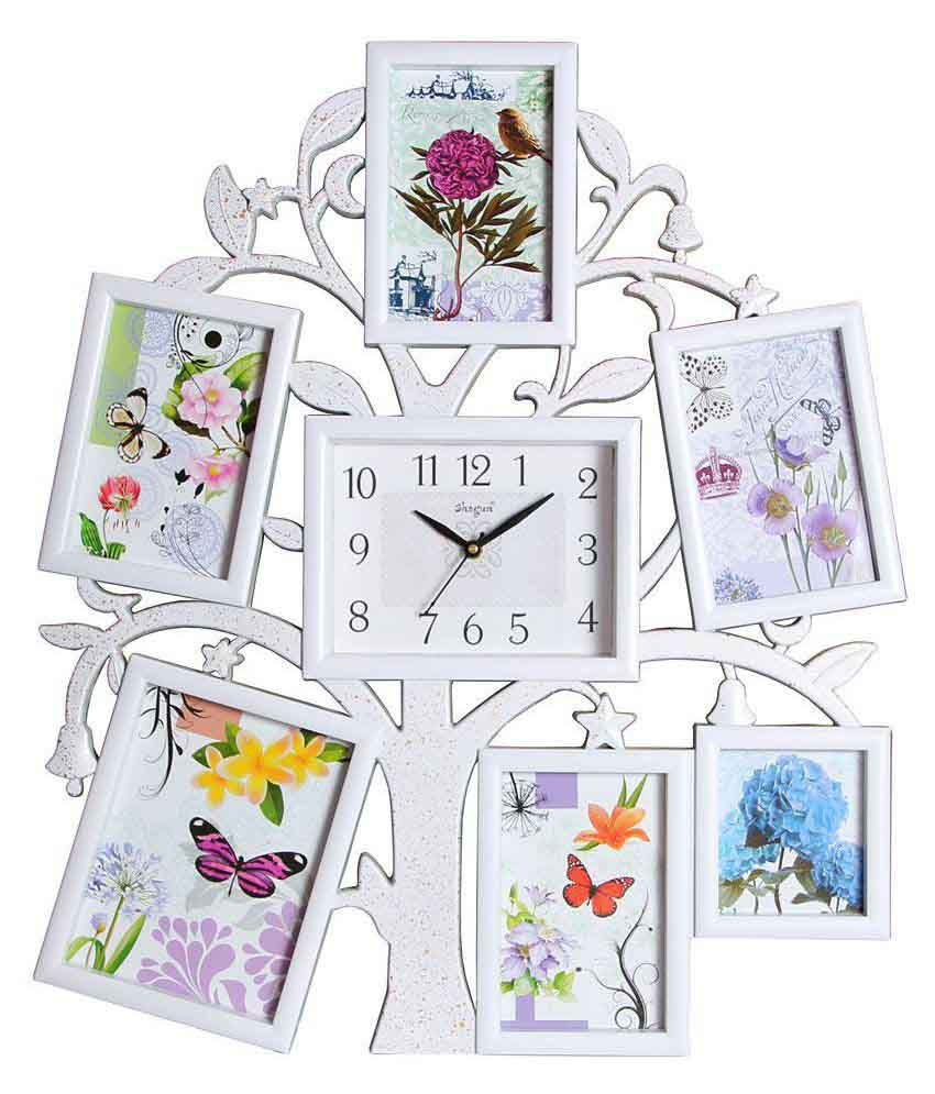 Archies Collage Frames Plastic Wall Hanging White Collage Photo Frame