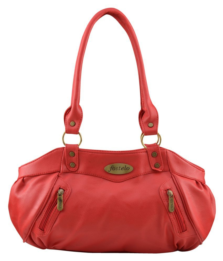 Fostelo Pink Faux Leather Shoulder Bag available at SnapDeal for Rs.599 cb4e677f91