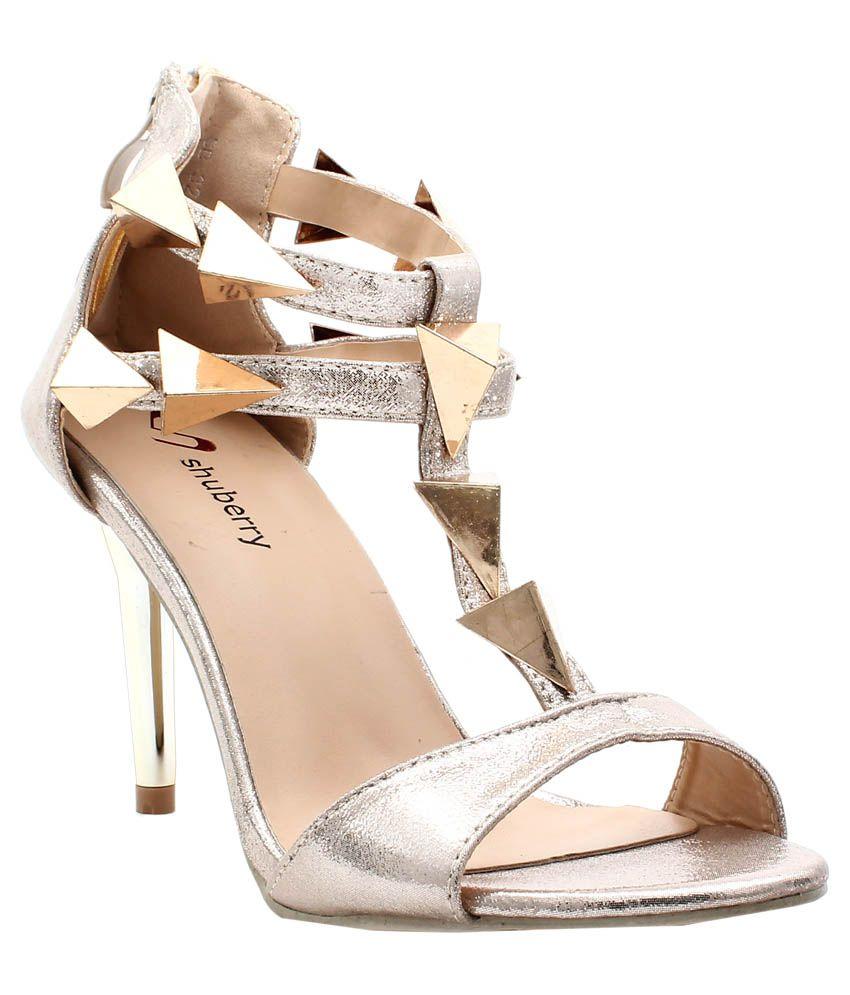 Shuberry Silver Stiletto Heels