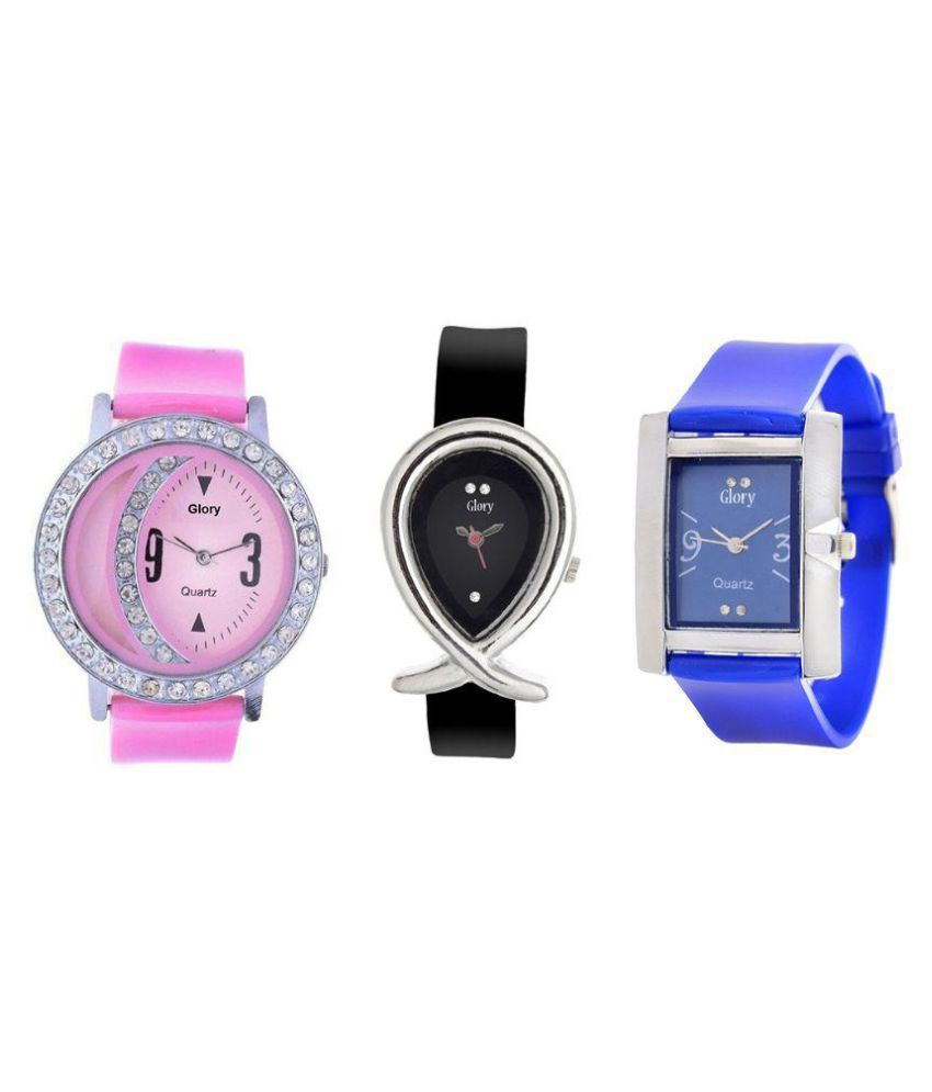 Glory Multicolour Analog Watch - Pack of 3