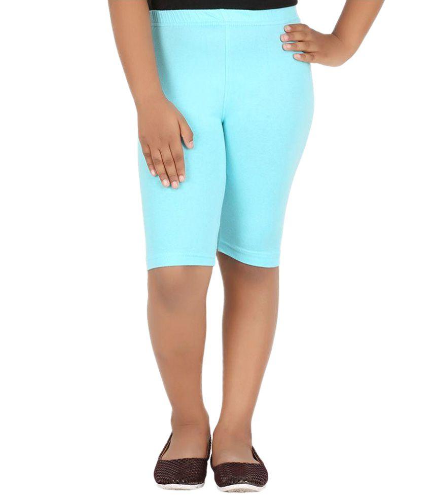 Knit ABC Blue Cotton Cycling Shorts