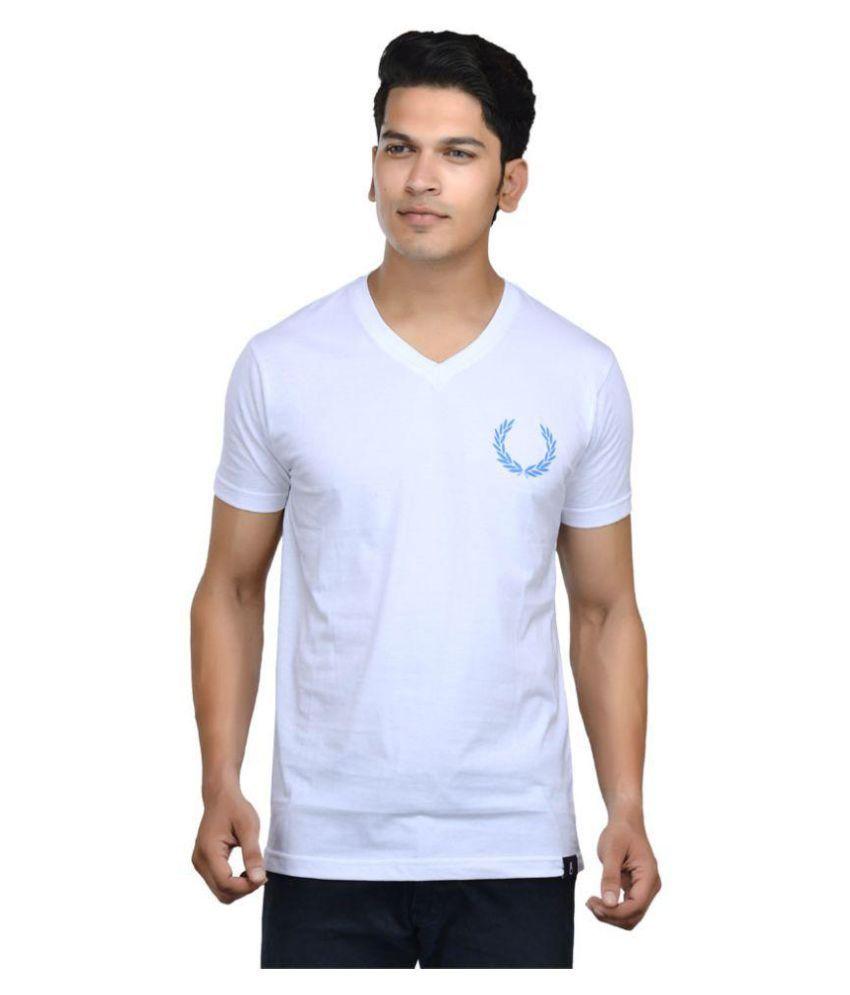 United Indian White V-Neck T-Shirt