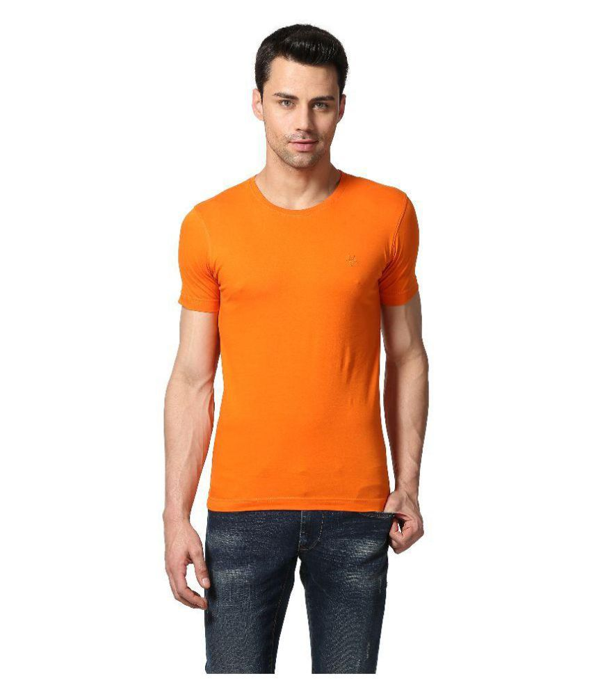Goat Orange Round T-Shirt