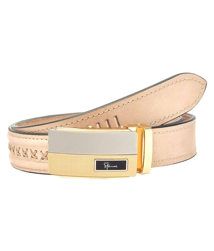 Hawai PeachPuff Leather Casual Belts