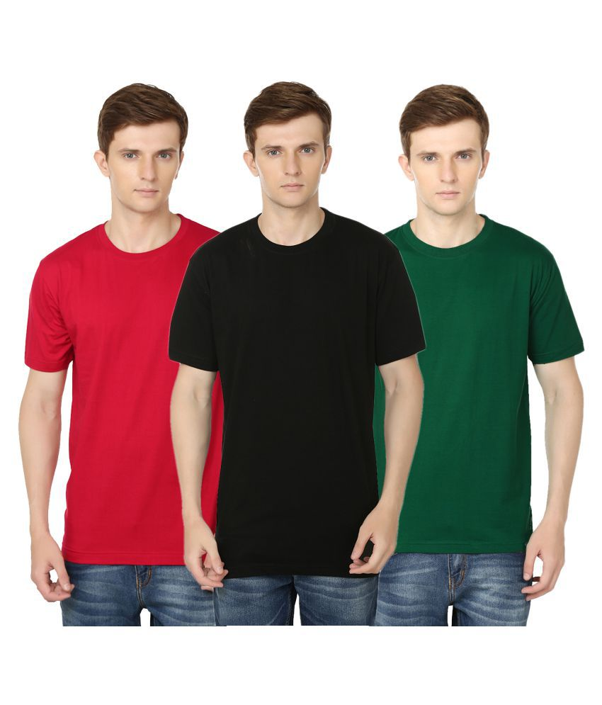 Club Vintage Multi Round T-Shirt Pack of 3