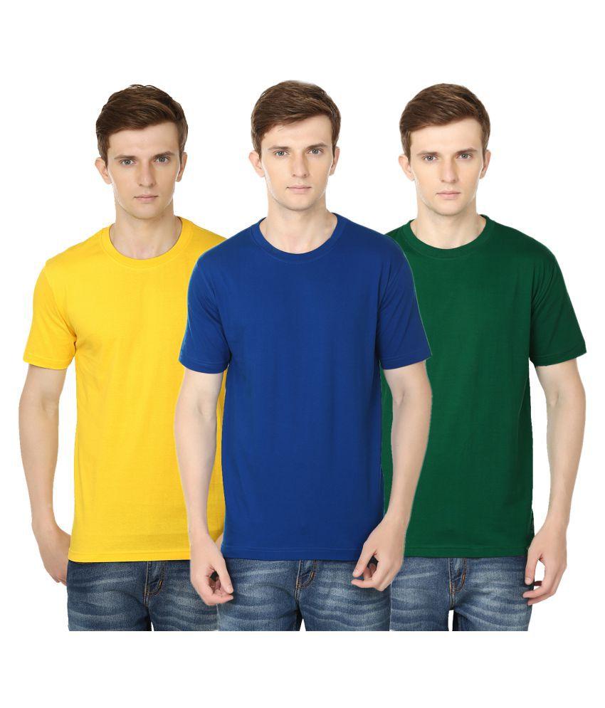 Club Vintage Multi Round T-Shirt Pack of 3