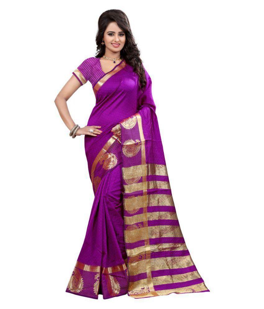 Fashion Storey Purple Art Silk Saree