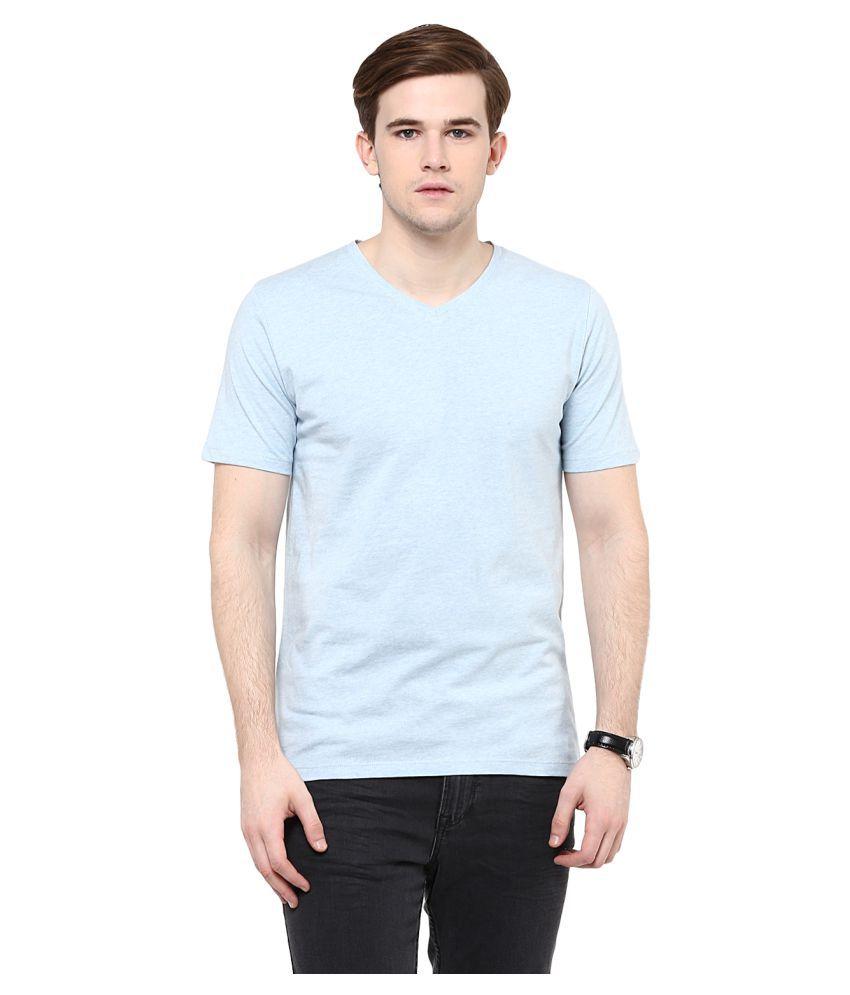 Colors Couture Blue V-Neck T-Shirt