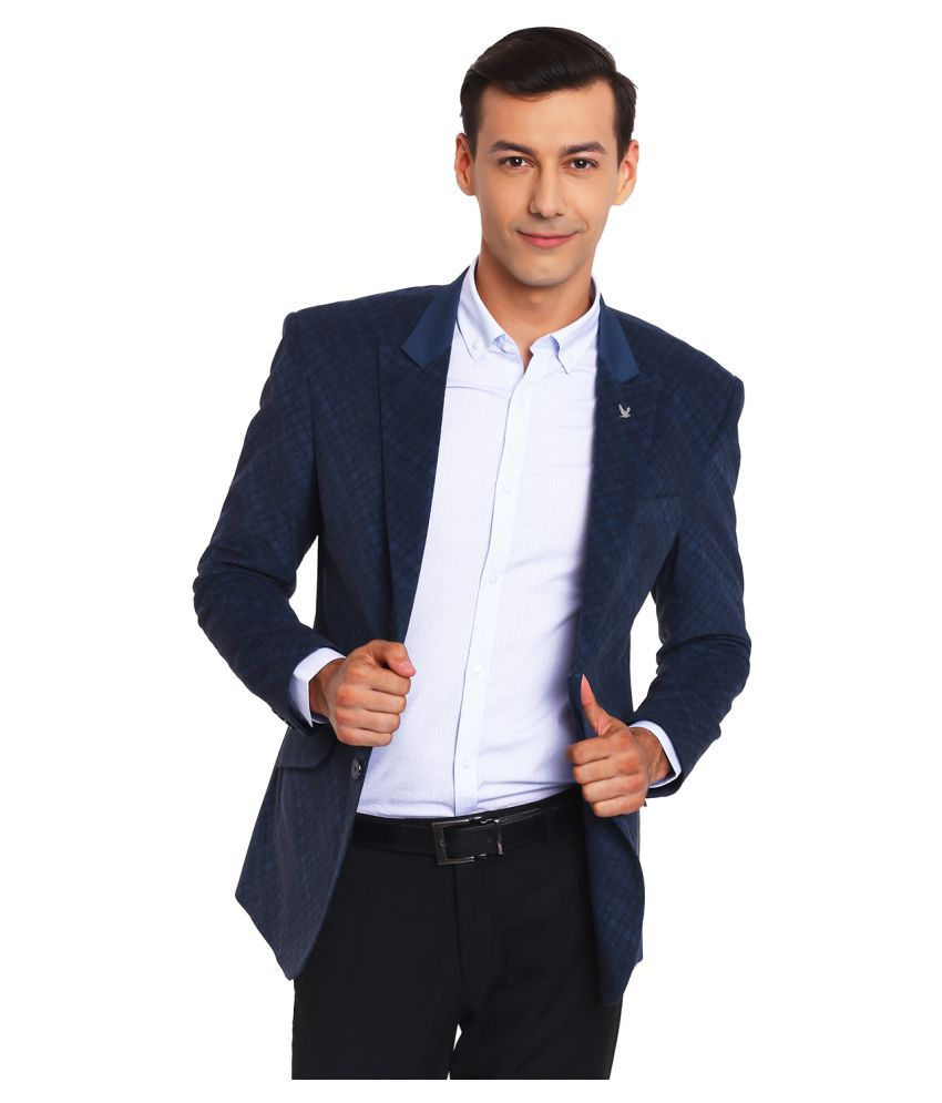 Canary London Blue Checks Casual Tuxedo