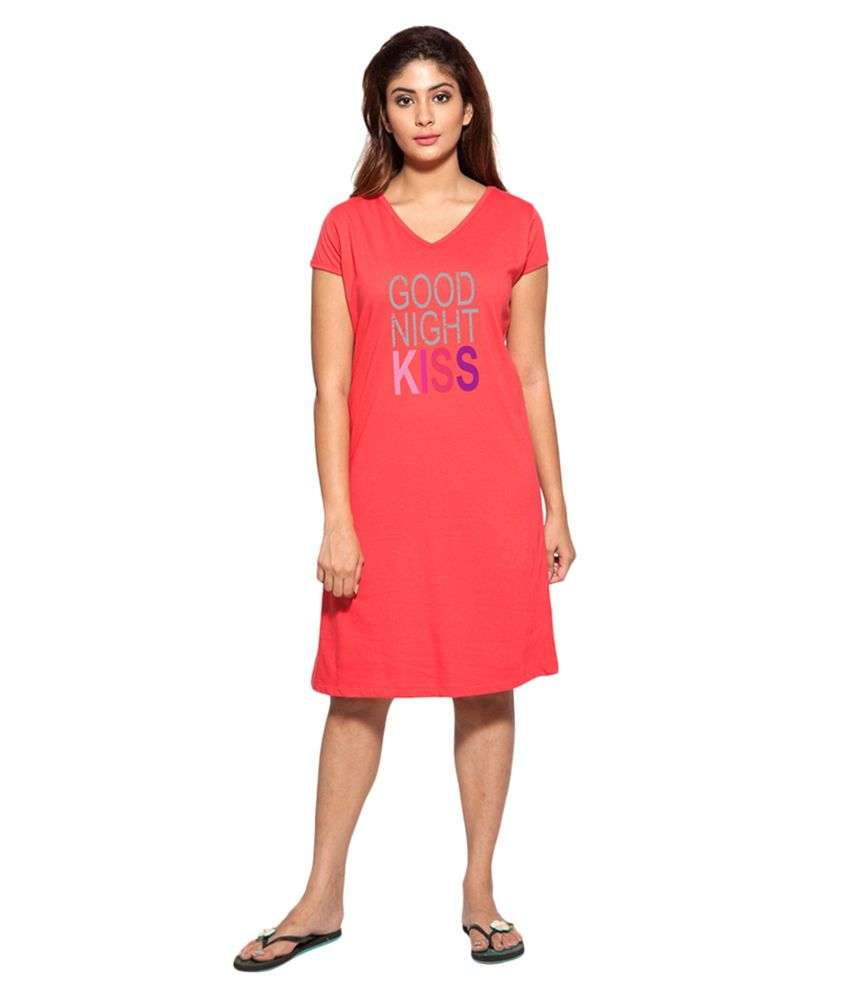 Clifton Red Cotton Nighty & Night Gowns