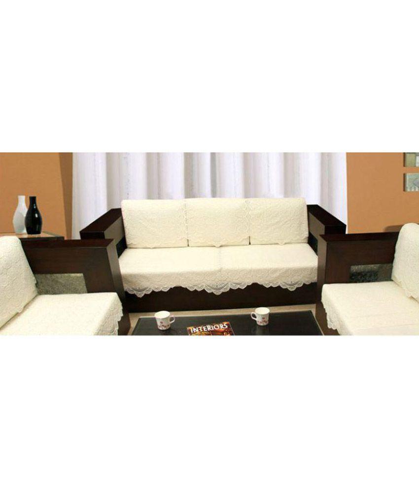 Zafar Baig 5 Seater Cotton Set Of 10 Sofa Cover Set Buy