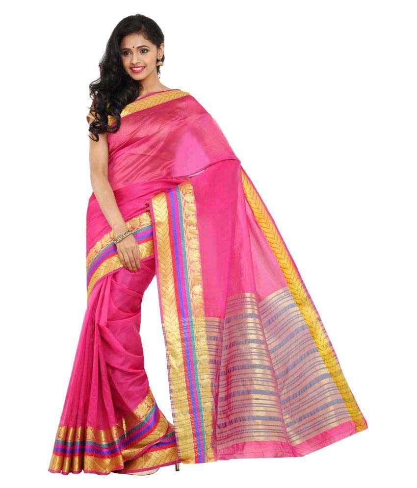 Aryahi Pink Art Silk Saree