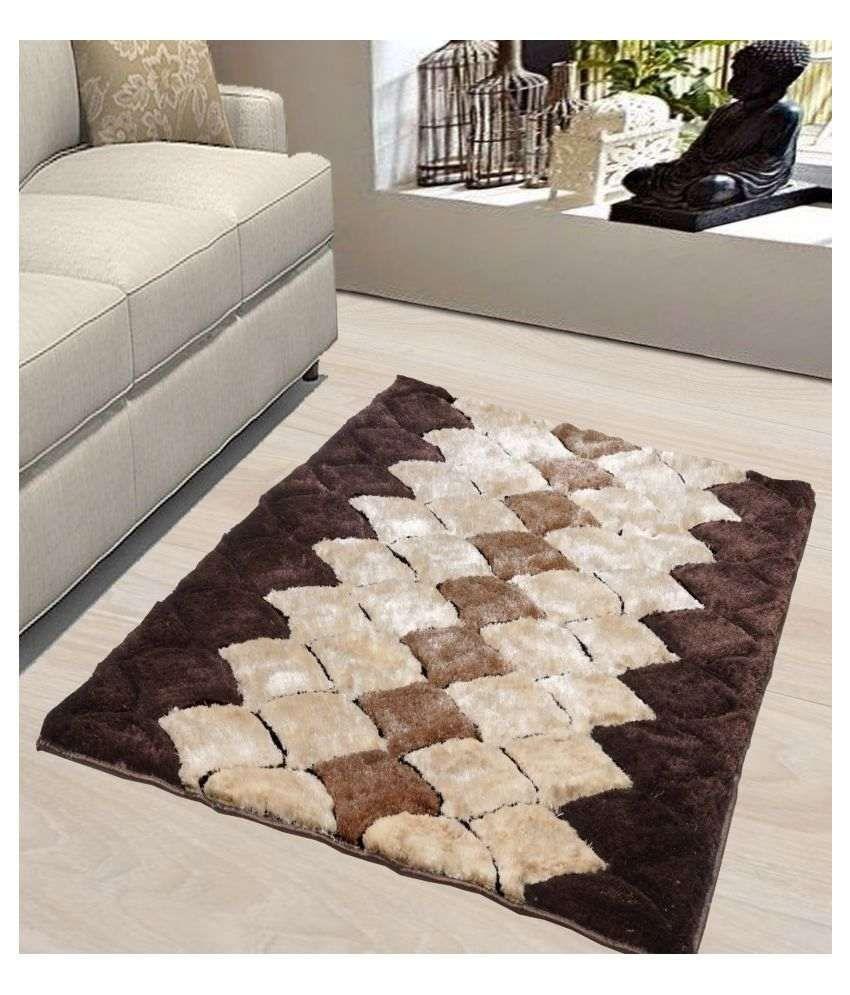 Rayon Casa Multi Shaggy Carpet Geometrical 3x5 Ft.