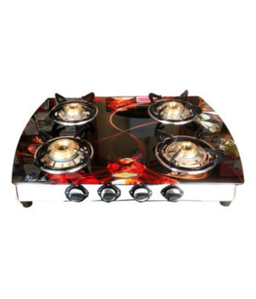 Surya Benz BNZAUTO23E 4 Burner Glass Gas Stove