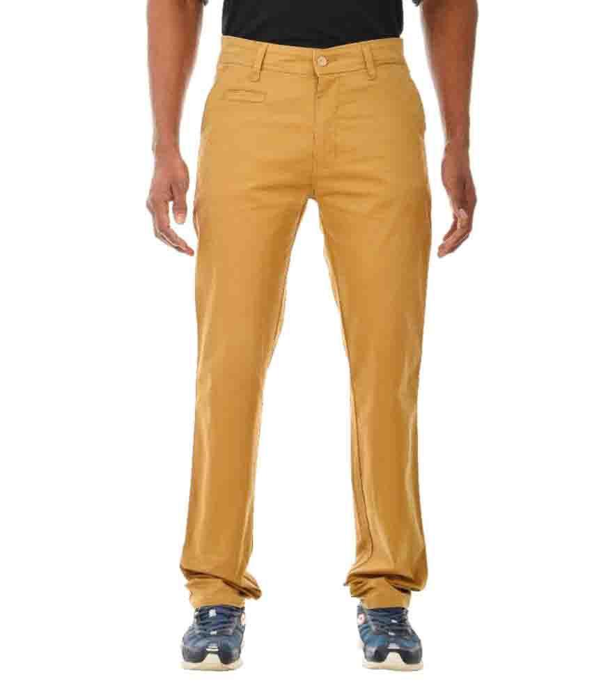 Tom Crew Club Yellow Slim Flat Trouser