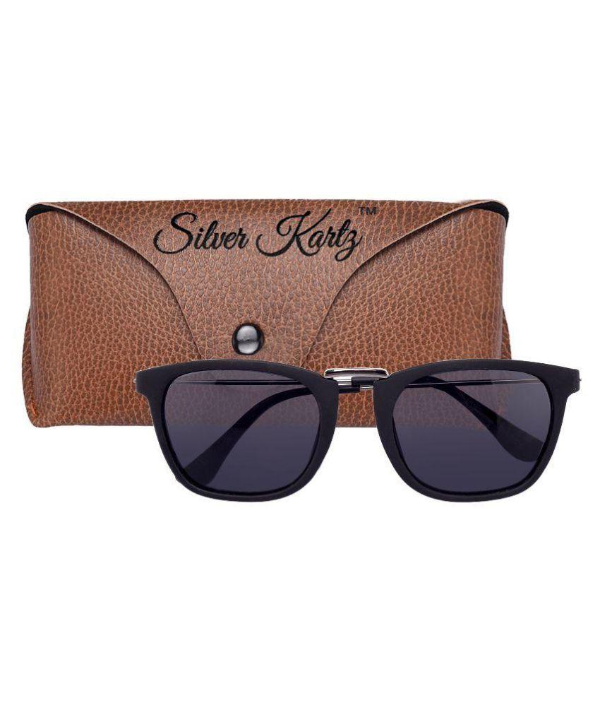 1761b9c3e2d Silver Kartz Violet Clubmaster Sunglasses - Buy Silver Kartz Violet ...