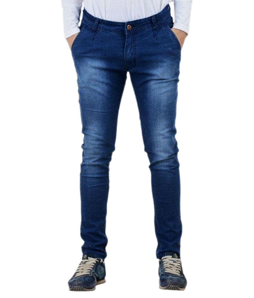 Daller Blue Skinny Faded