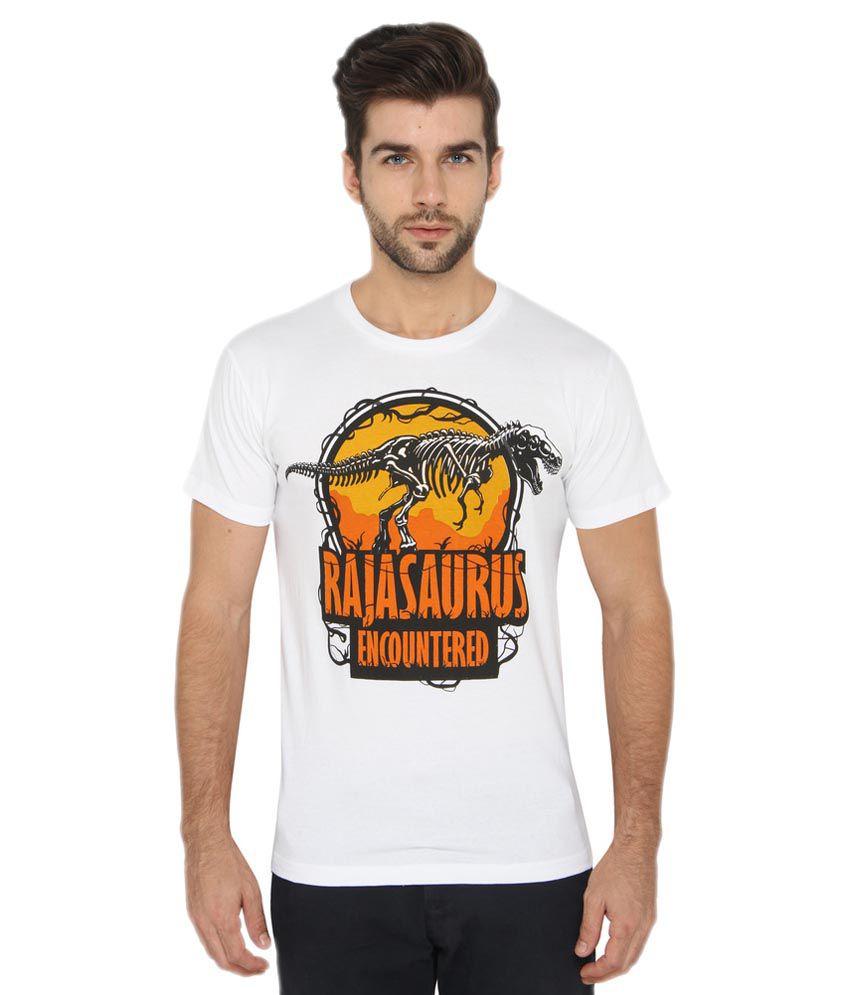 Imagica White Round T-Shirt