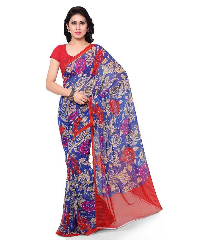 Alethia Enterprise Multicoloured Georgette Saree