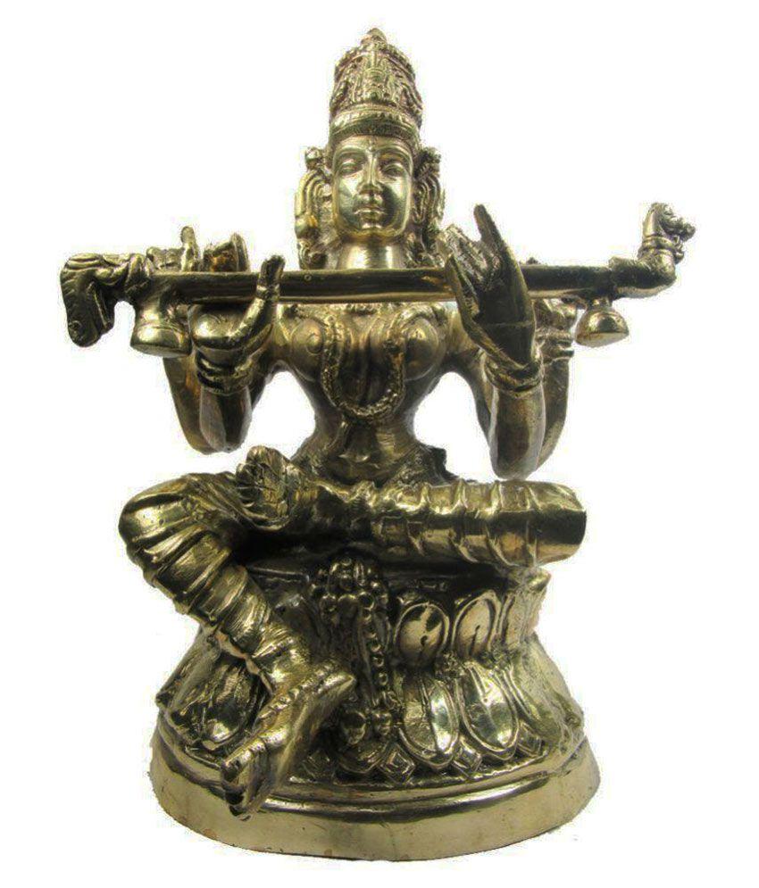 Indian Arts Museum Saraswati Brass Idol