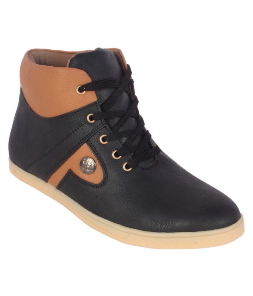 1Aarow Black Casual Boot
