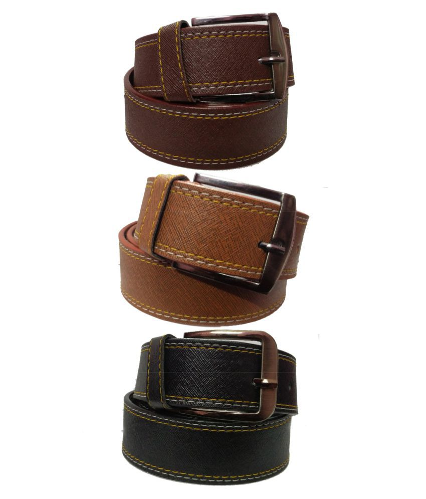 Ansh Fashion Wear Multi Faux Leather Casual Belts