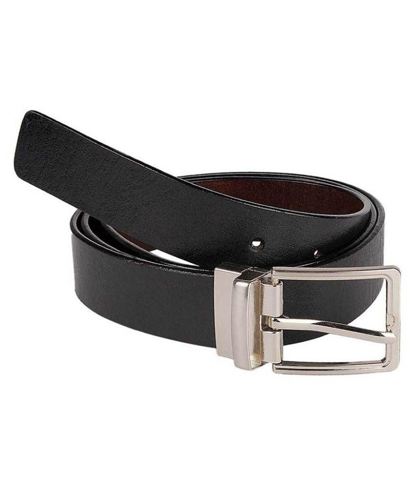 Daller Black Leather Formal Belts