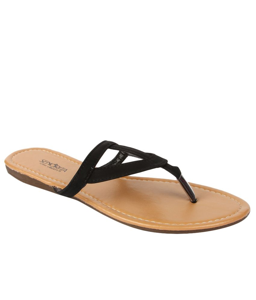 Senorita By Liberty G1-90111 Black Slippers for Ladies