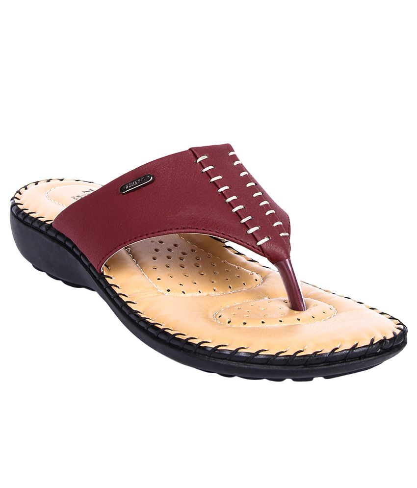 Tiptopp By Liberty Maroon Slippers