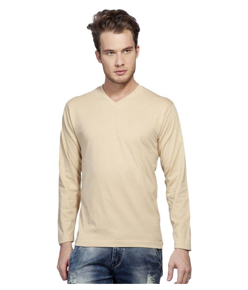 Clifton Beige V-Neck T-Shirt