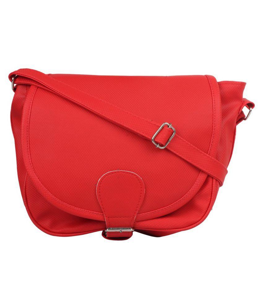 Best Deal Red Canvas Sling Bag