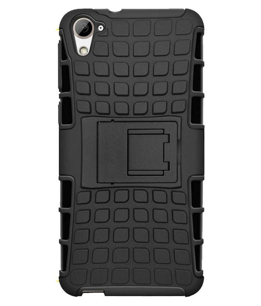 separation shoes d589c 95232 Kick Stand Bumper Back Case Cover For HTC Desire 626 -Black