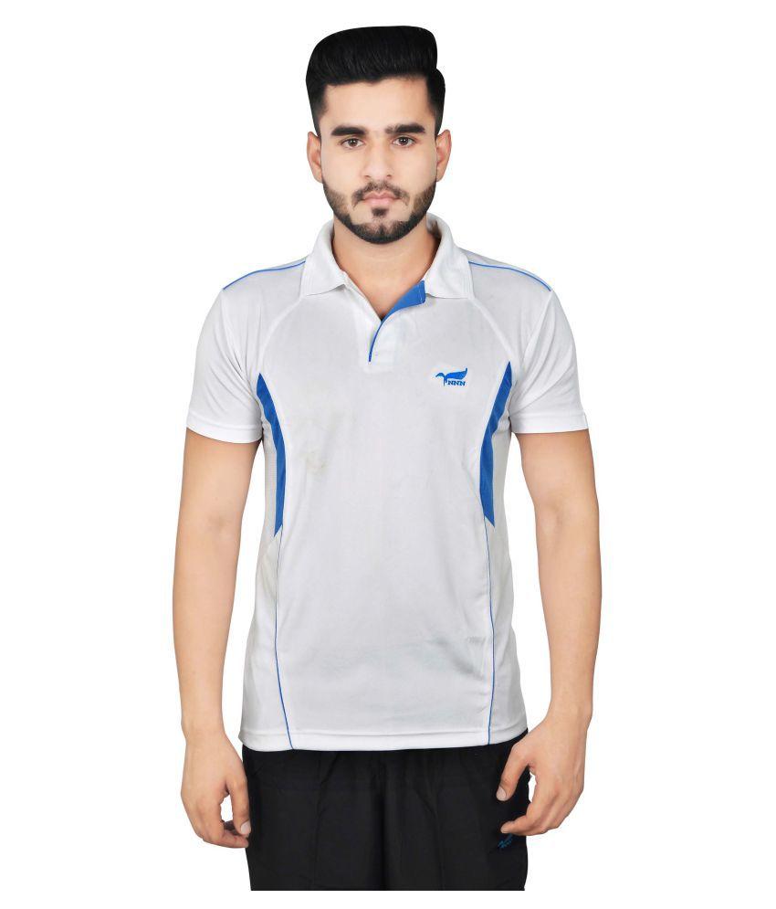NNN Men's White Half Sleeves Dry Fit T-shirt