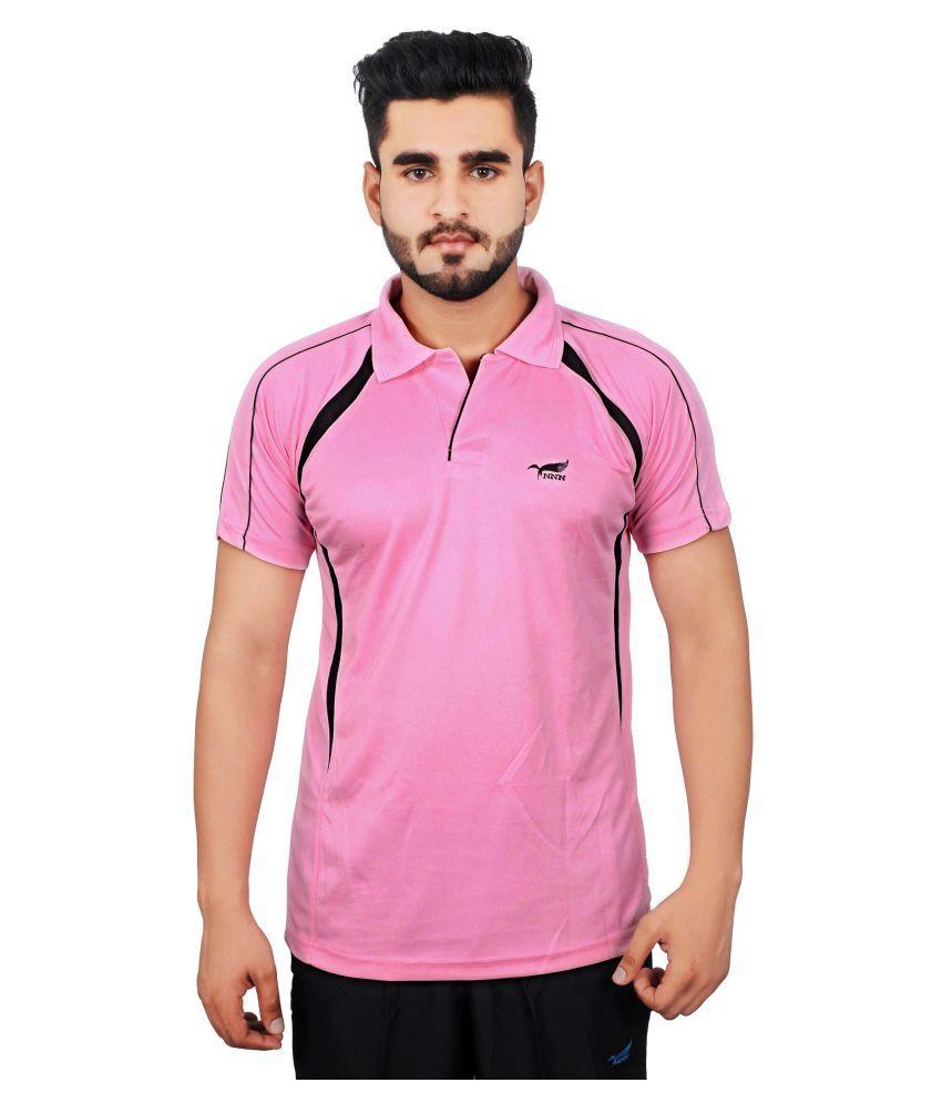 NNN Pink Polyester Polo T-Shirt