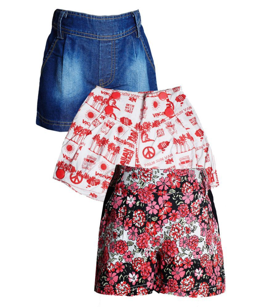 Naughty Ninos Multicolor Cotton Shorts - Pack of 3